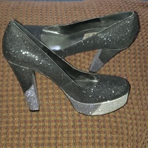 Awesome Naughty Monkey Glitter Heels size 8.5
